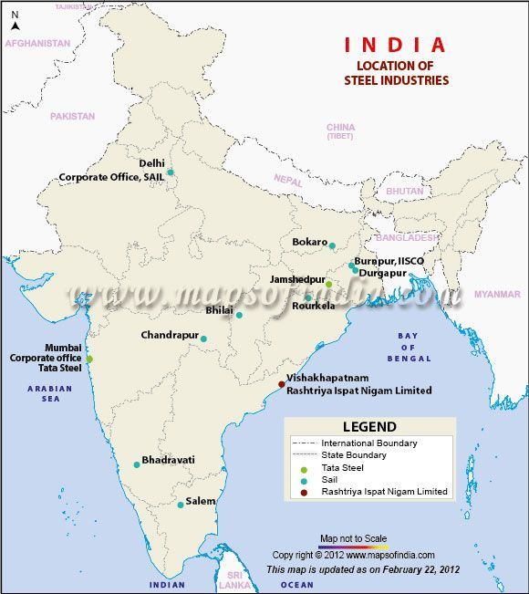 industrial map of india upsc India Steel Industry Iron And Steel Industry India Map India industrial map of india upsc