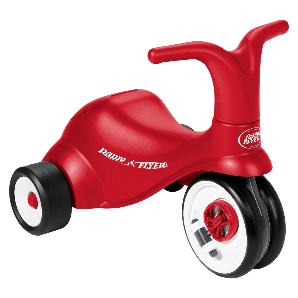 Radio Flyer Kid's Scoot 2 Pedal Scooter Red Radio