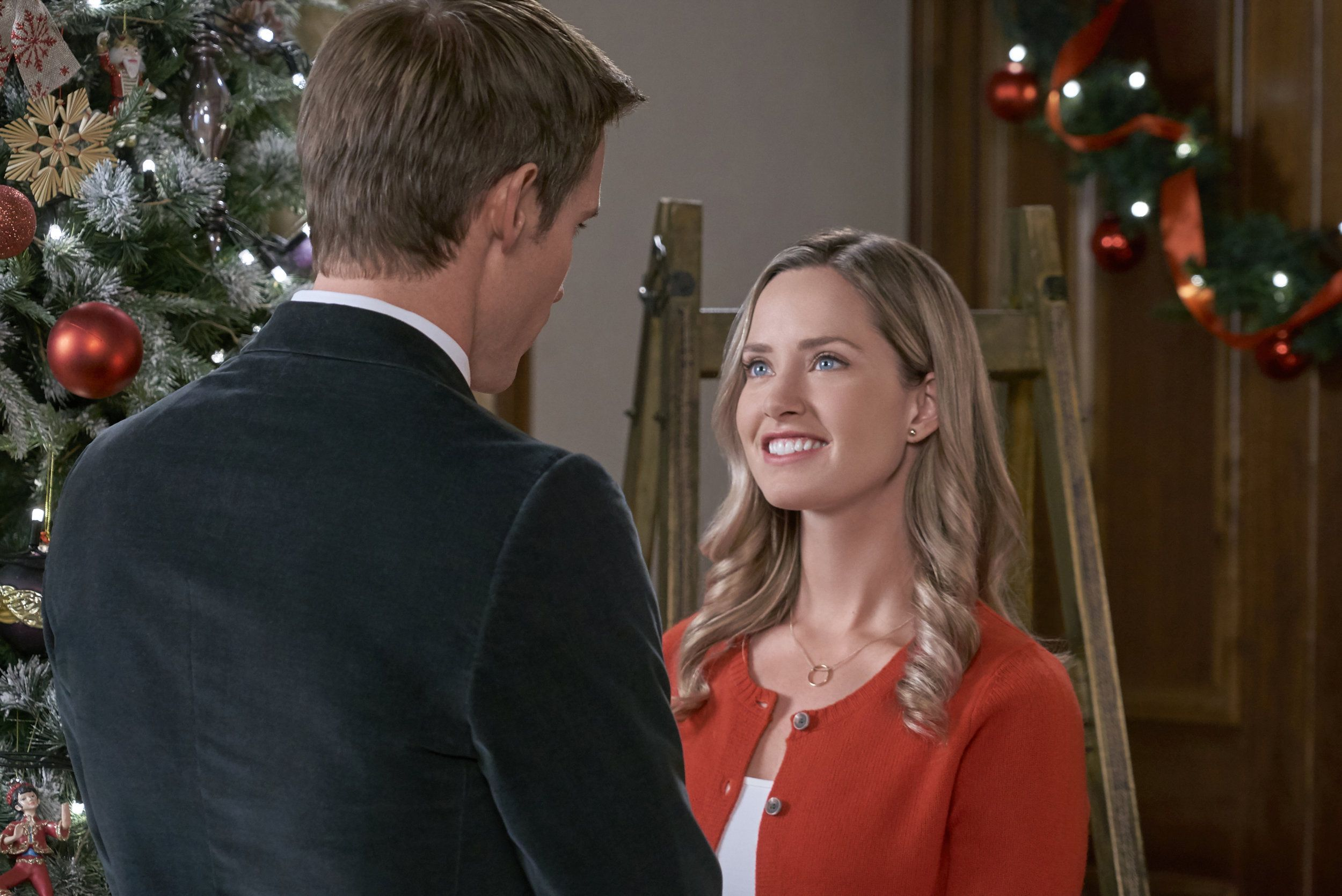 Go Behind The Scenes Of The Hallmark Channel Original Movie Christmas At The Palace Starring Merritt Patte Merritt Patterson Hallmark Christmas Movies Photo