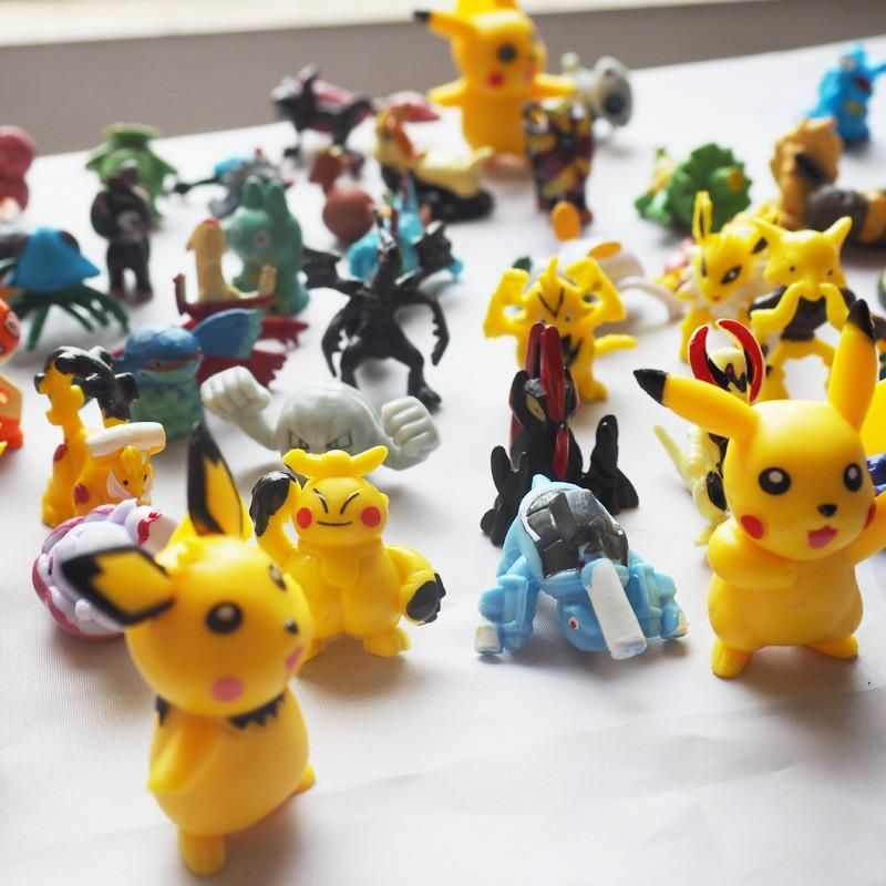 Cartoon Mini Pikachu Minifigure Action Figures For Gift Anime Pocket Toy Monster Doll Puppets Child S Play Hand Dolls Toys In 2021 Mini Figures Monster Dolls Kids Playing