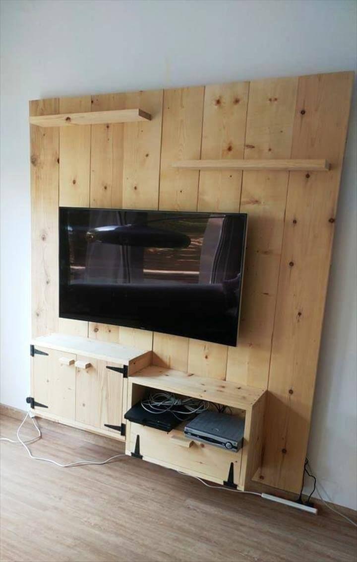 Diy wooden media wall tv panel wall paneling diy