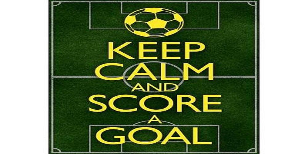 Keep Calm And Play Soccer Soccer Football Sports Qhd: Keep Calm And Score A Goal Soccer Motivational Poster