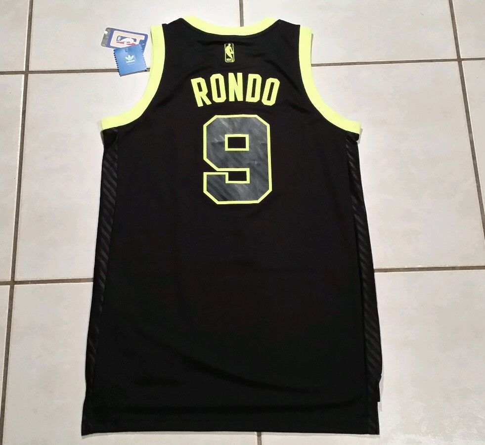 "NWT ADIDAS Boston Celtics Rajon Rondo LIMITED EDITION SEWN Jersey Men""s Small     eBay"