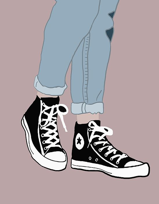 Chucks Drawing Wallpaper Shoes Wallpaper
