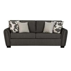 Our New Couch Nebraska Furniture Mart Henderson Contemporary Gray Sofa With Tapered Roll Arms Hom Furniture Sofa Furniture