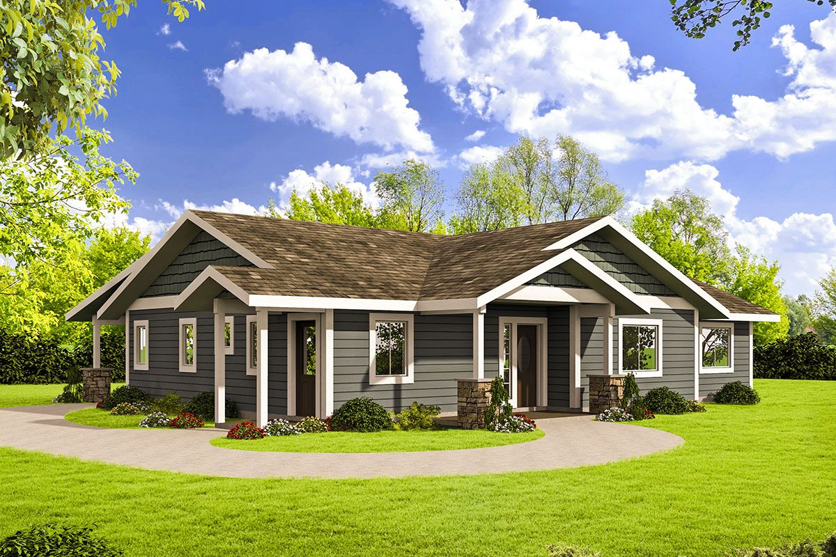 Plan 35560gh Northwest Style Ranch House Plan Ranch Style House Plans Ranch House Plan Ranch Style Homes