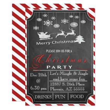 Christmas Party Invitation - Xmascards ChristmasEve Christmas Eve - holiday party invitation