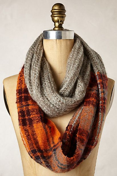 comfy colorblock infinity scarf #anthrofave http://rstyle.me/n/r8329r9te