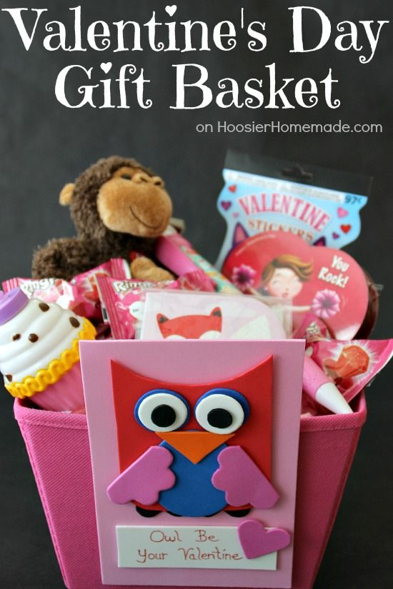 Valentine Gift Baskets For Kids. 2 sweet kids valentine baskets ...
