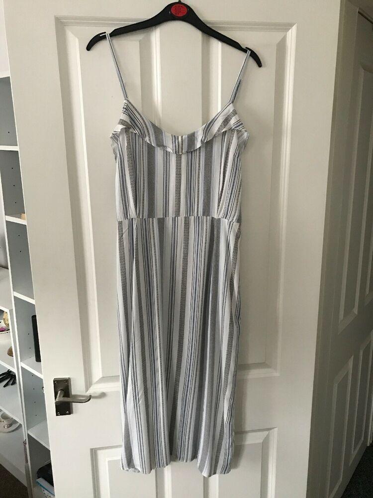 White Dress From Ebay Uk Whitedress Dress New Look Ladies White Mix Summer Dress Size 14 3 00 0 Bi Stripes Fashion Summer Occasion Dress Summer Dresses
