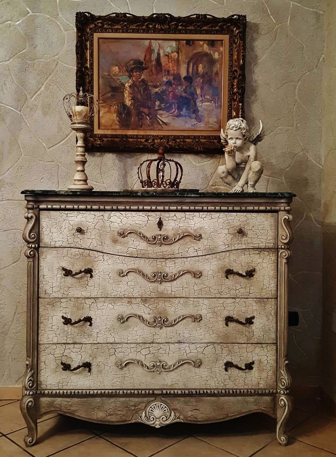 Com cassettone commode shabby chic shabby chic vicky for Complementi d arredo stile provenzale