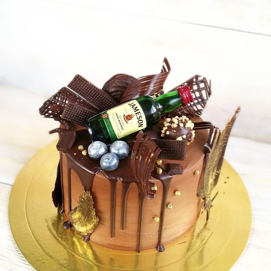 Торты на заказ СПБ | Кусочек Счастья | Торт с виски, Торт ...