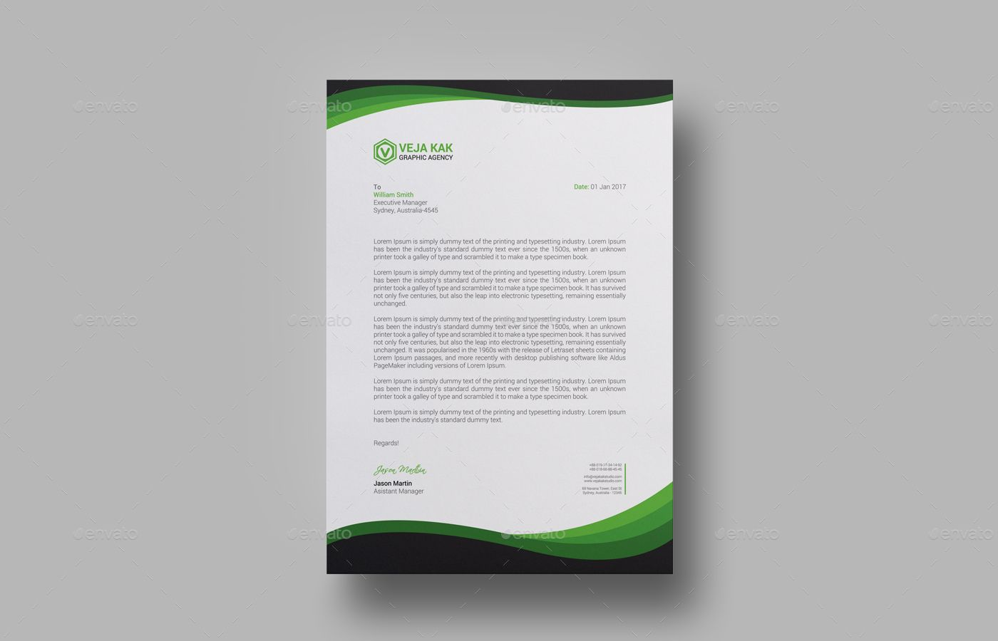 Sample Company Letterhead Template Download Psd Pdf