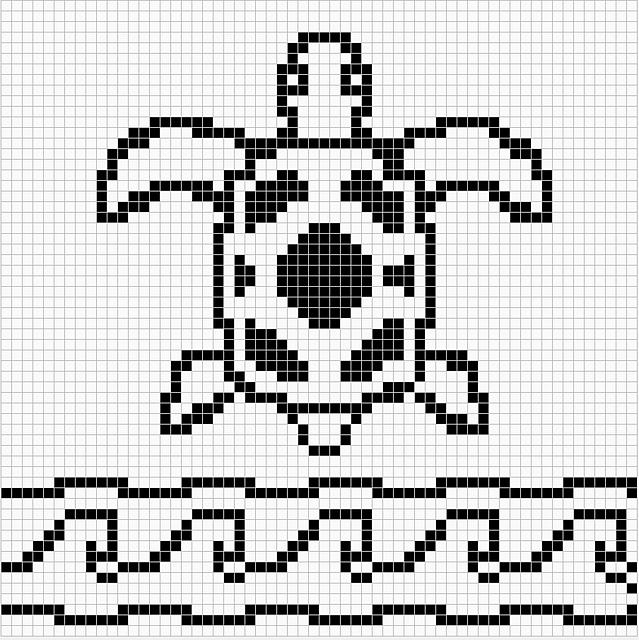 Ravelry: Sea Turtle Chart Remix pattern by Melanie Nordberg. ☀CQ ...