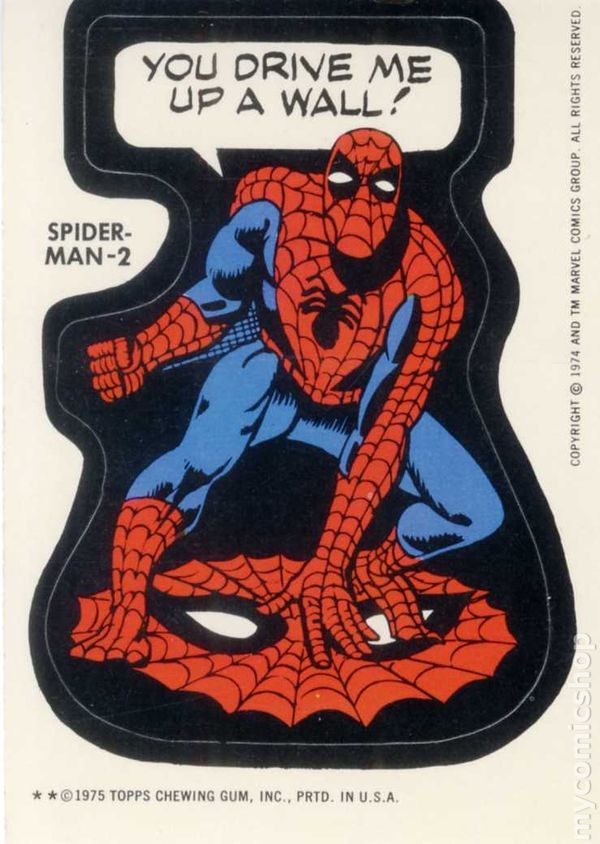Marvel super heroes stickers series 1 spider man 2