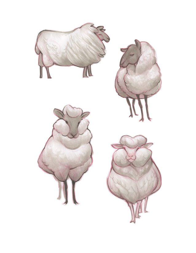 sheep.jpg (638×825) | Illustrations | Pinterest | Oveja, Brujo y Cerdo