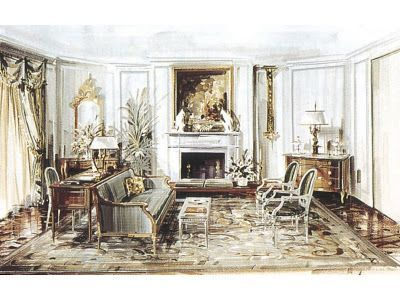 interior design illustrated  scalise                                                freehand        interior design illustrated  scalise