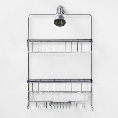 Large Bathroom Shower Caddy Chrome Made By Design Shower Caddy Bathroom Shower Large Bathrooms