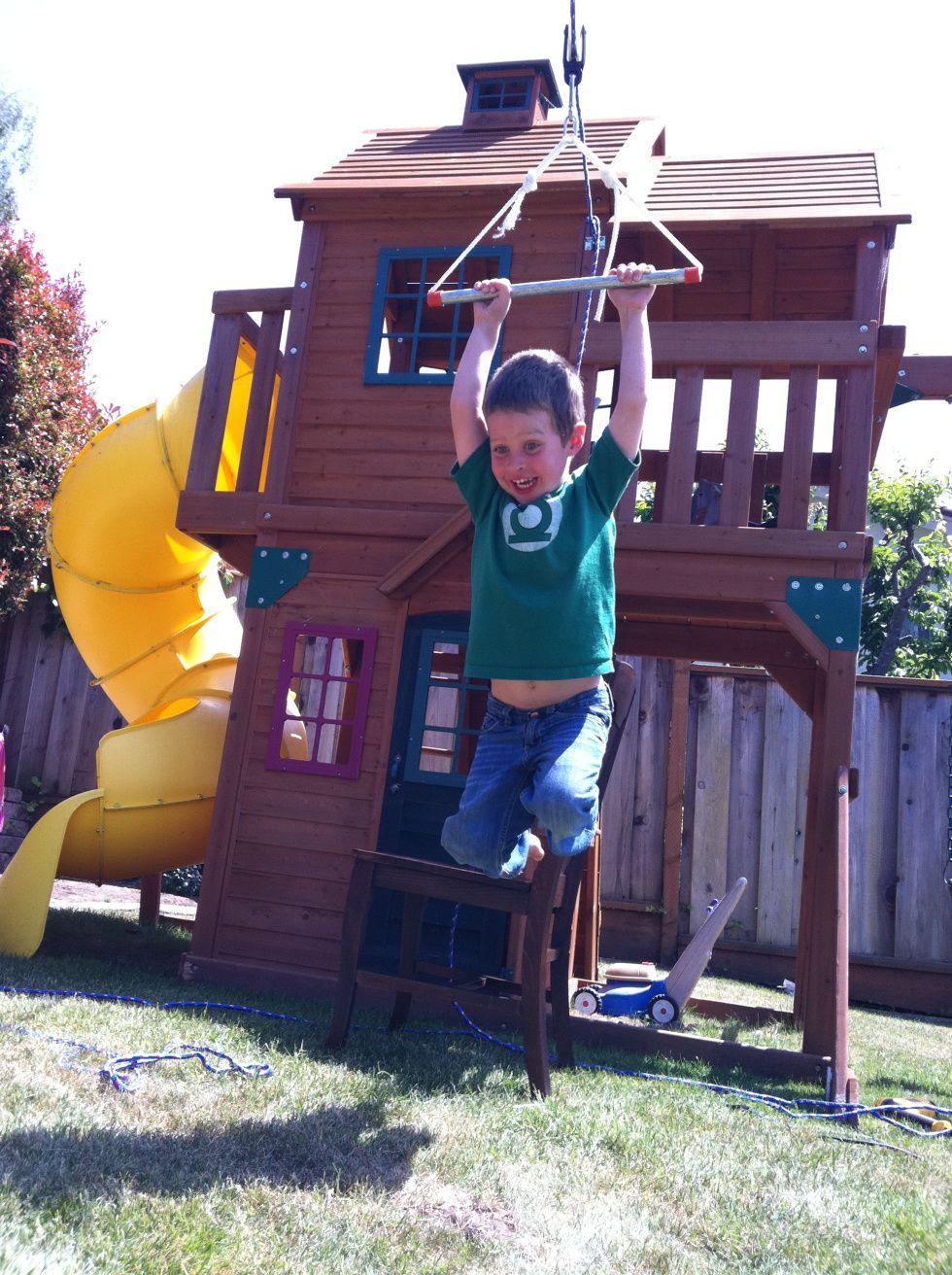 DIY Dorkdad | Zip line backyard