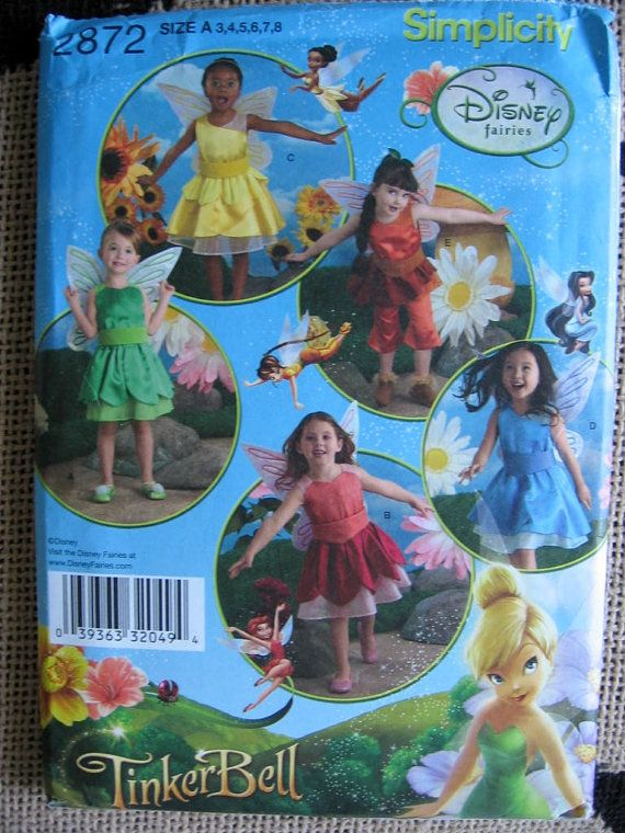 Simplicity Toddler Girls Disney Tinkerbell Fairy by Vntgfindz