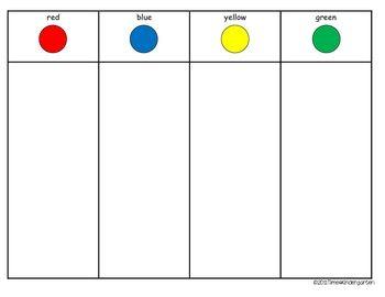 Math Sorting Math 8.5 x 11 Teaching colors, Sorting
