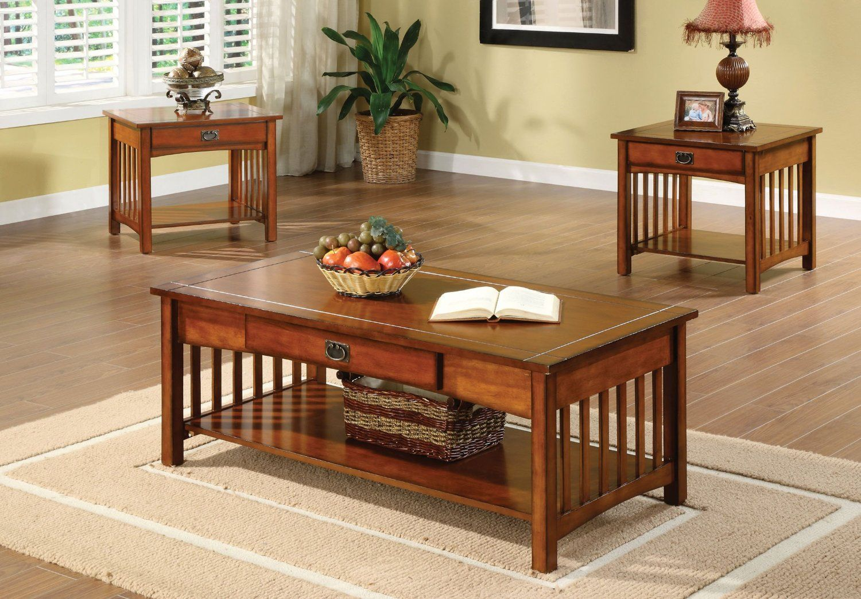 Furniture of America IDF42453PK Davey 3Piece Coffee