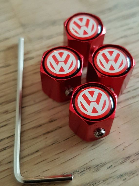 Vw Red Dustcaps Tire Valve Dust Caps Anti By Limiteddustcaps Volkswagen Polo Gti Polo Gti Volkswagen Polo
