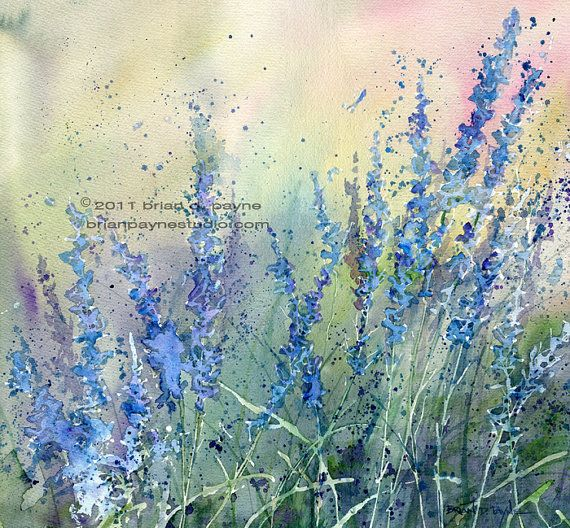 Gentle Calming blues,violets and greens massage your soul in this print