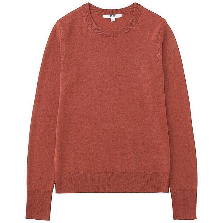 182eb19d5aef Women extra fine merino crewneck sweater