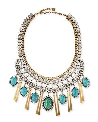 Costella Turquoise Statement Necklace by Dannijo