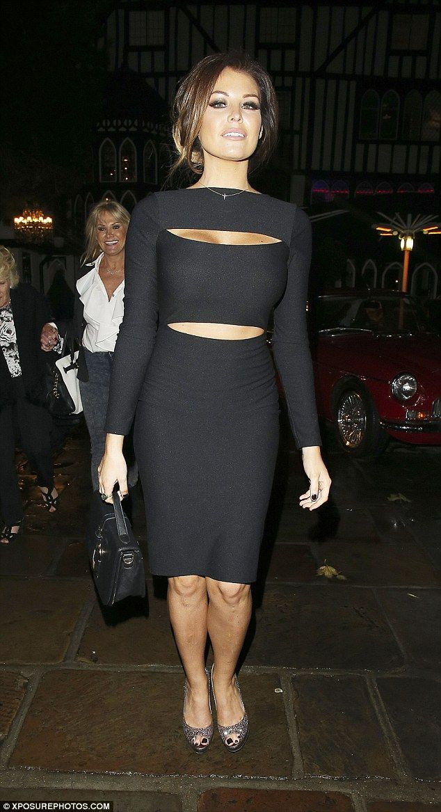 809c8e56bce24 Stunning shape: TOWIE star Jessica Wright leaves the Sheesh restaurant in  Chigwell, Essex .