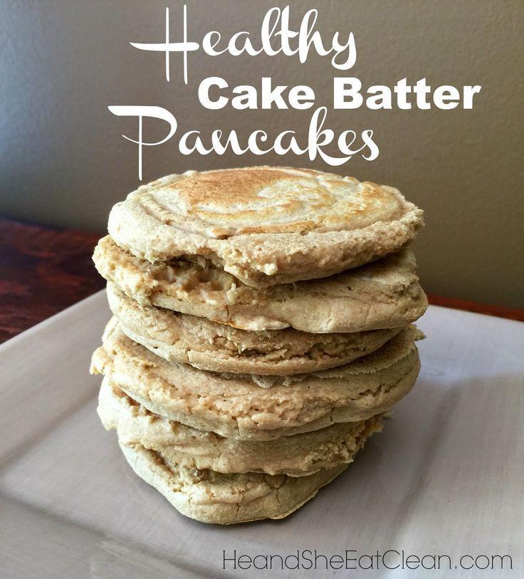 Healthy cake batter pancakes recipe cake batter