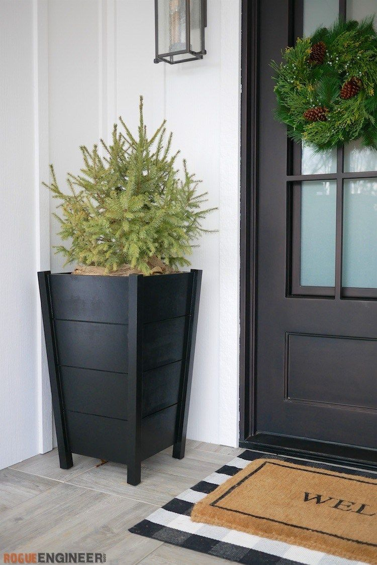 Modern Tapered Planters Diy Planters Outdoor Diy Planters Wood Planters