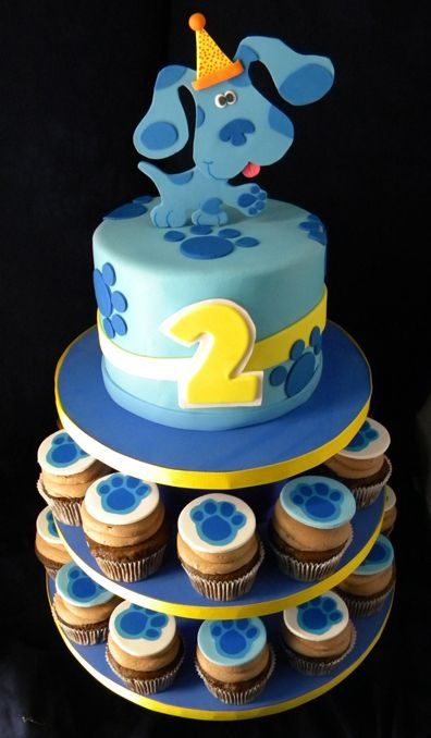 Blues Clues Cake And Cupcakes With Images Second Birthday