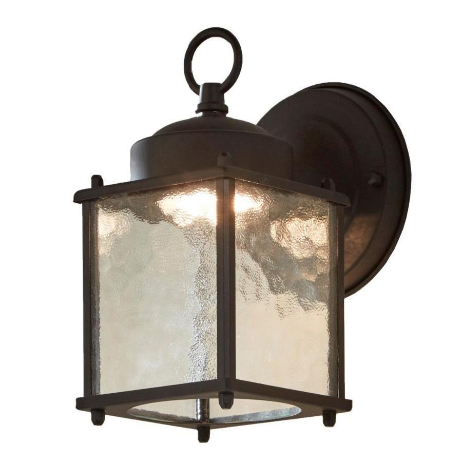 Portfolio Wall Lantern 8 25 In H Black Led Outdoor Wall Light In 2020 Wall Lights Outdoor Wall Lighting