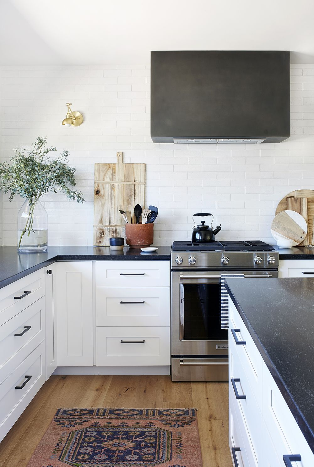 How an Interior Designer Made Her First Home Her Own | Rue ... Tourquay Quartz With Blue Cabinets Kitchen Ideas on kitchen ideas with turquoise, kitchen ideas gray cabinets, kitchen ideas clear cabinets, kitchen ideas brown cabinets, kitchen ideas green cabinets, kitchen ideas black cabinets, kitchen ideas red cabinets,