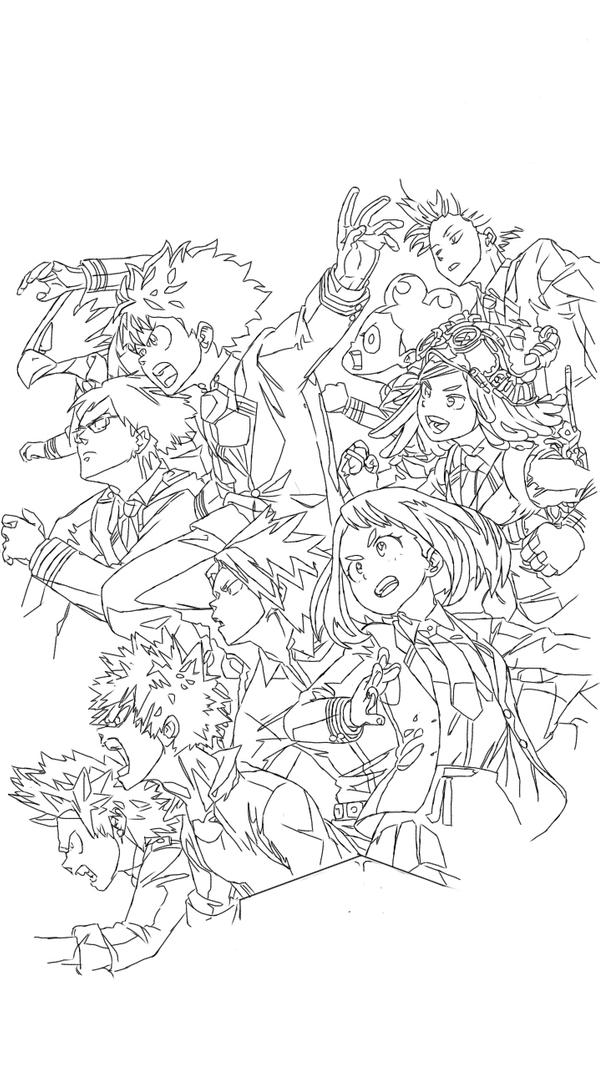 Boku No Hero Coloring Page By Malcolmshaw On Deviantart Manga Coloring Book Anime Printables Anime Lineart