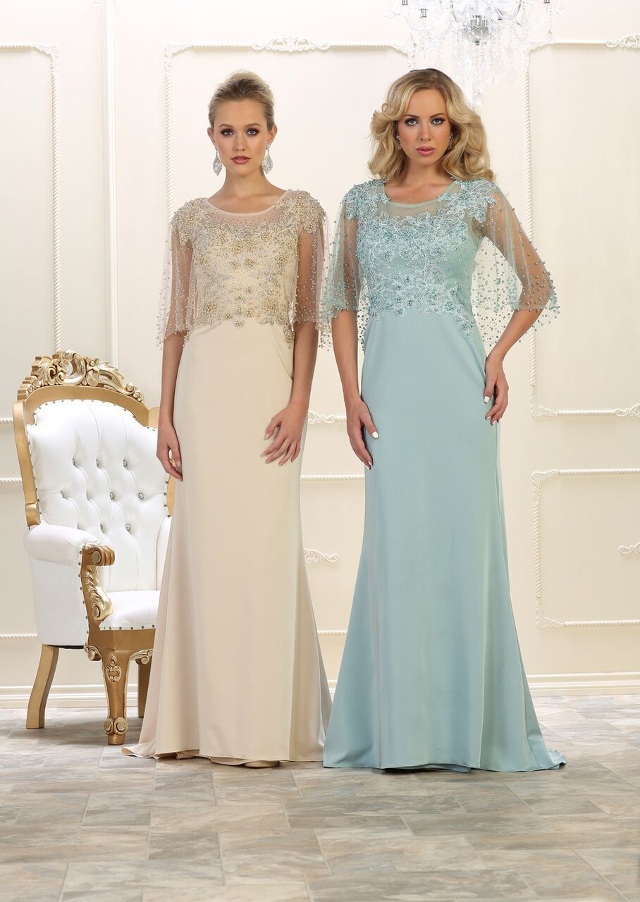 Long mother of the bride plus size formal dress pinterest mesh