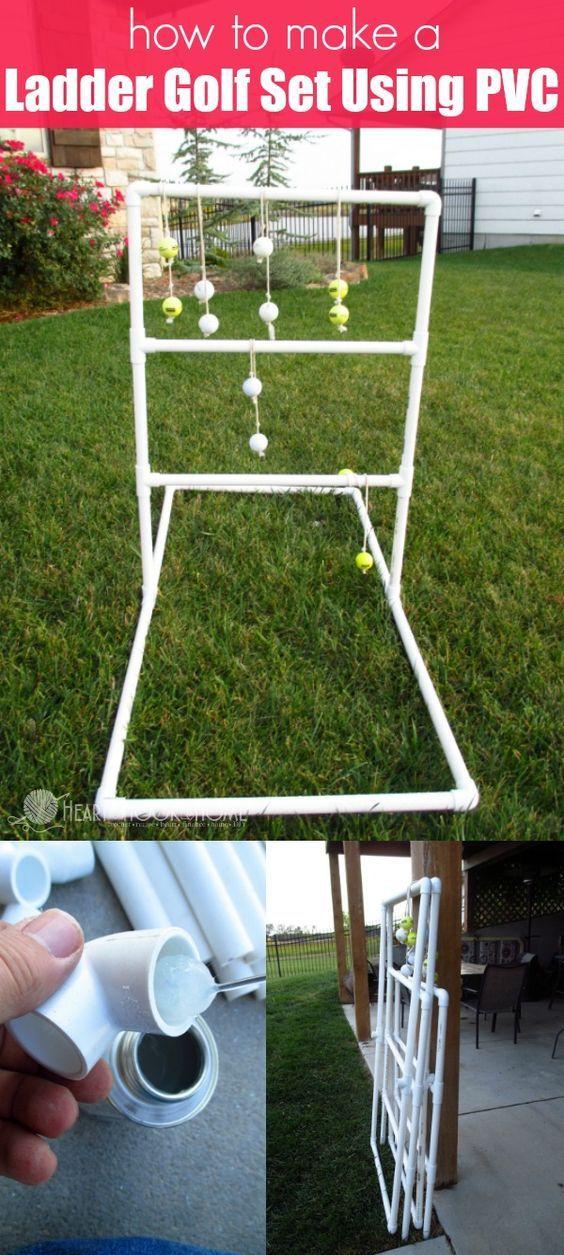How To Make An EASY Ladder Golf Set Using PVC. Ladder GolfA LadderOutdoor  GamesOutdoor ...