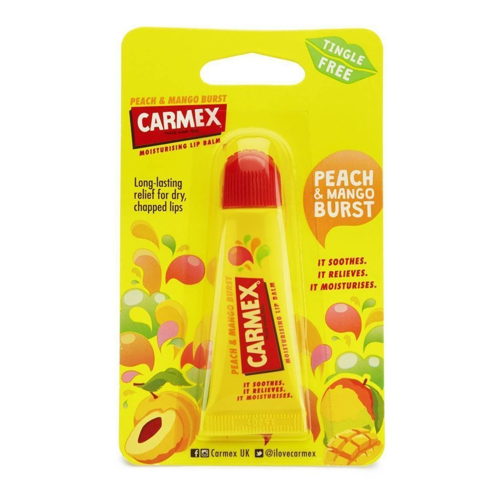 Carmex Classic Lip Balm Peach Mango Tube 10g In 2018 My Life Vaseline Therapy Tiny Rosy Lips A Tasty Tropical Flavour Which Protects And Moisturises Your Buy Receive Free Delivery Worldwide When