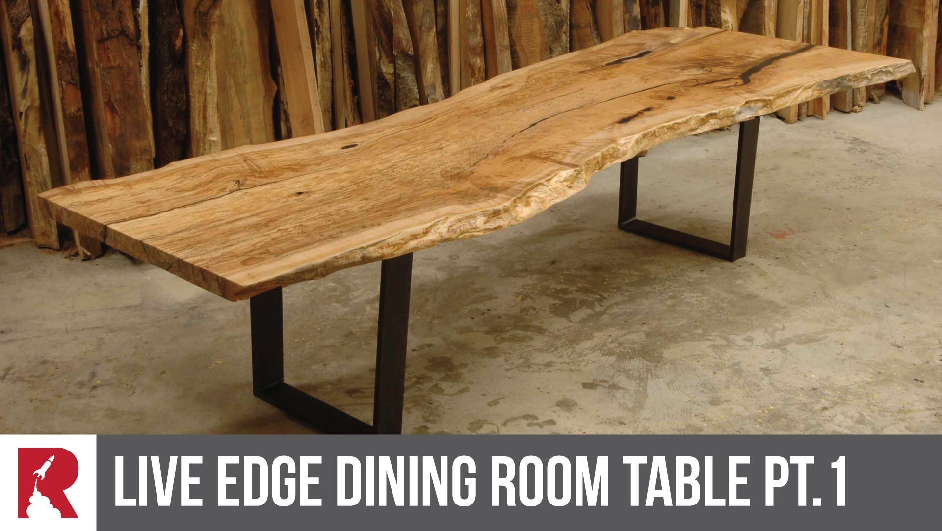 This Huge Sand Kiaat Live Edge Table Is So Much Fun To Work On