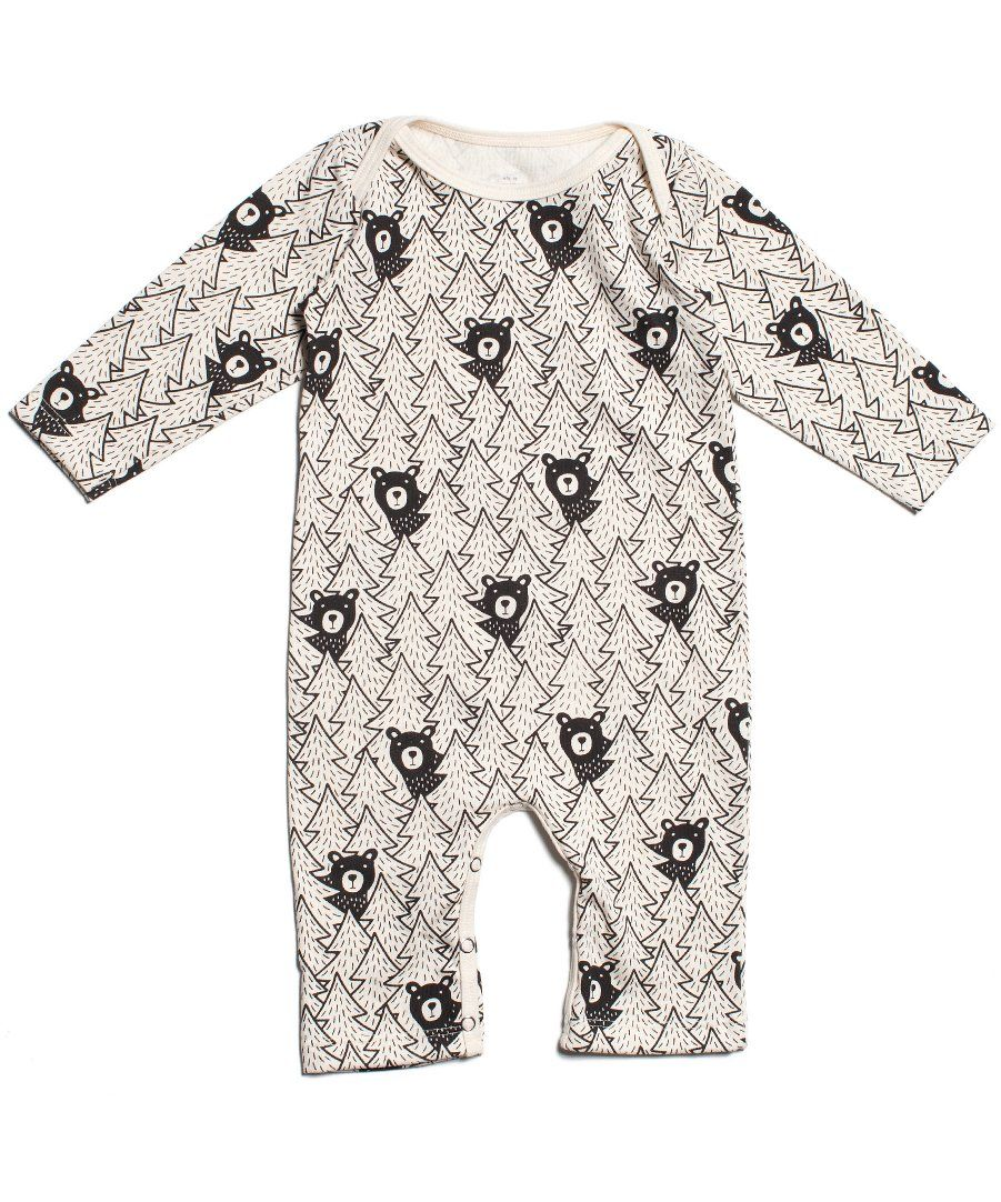 9d8cf1d22 Black bears romper - organic made in USA baby clothes – Two Crows for Joy