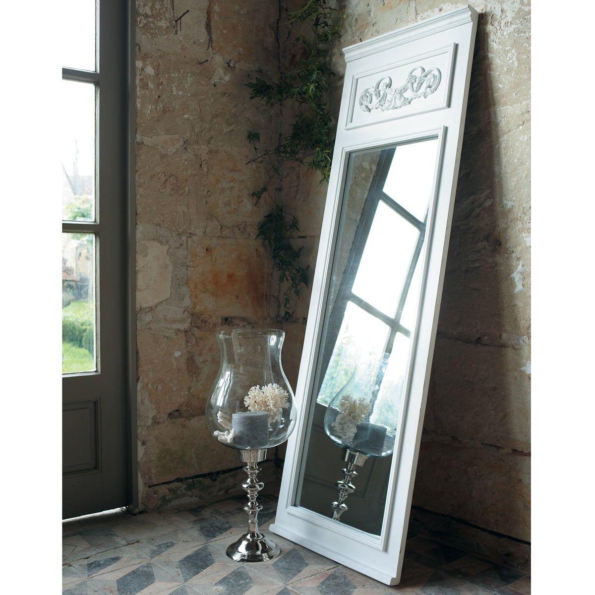 Miroir trumeau en sapin blanc H 170 cm | Pinterest | Spiegel und ...