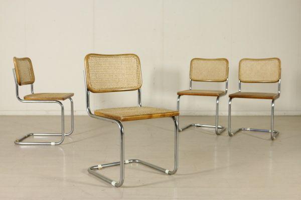 Fedele Sedie ~ Gruppo di quattro sedie fedele riproduzione del modello cesca di