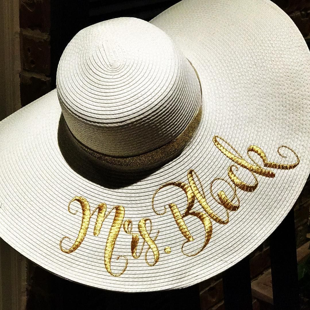 810115a6df883c nice Embroidered straw floppy sun hat with custom Mrs.monogram  #MagnoliaStitchDesign ... Embroidered straw floppy sun hat with custom Mrs.monogram  ...
