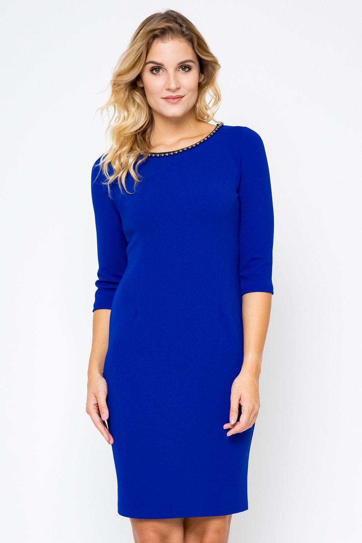 a1324b673f0946 Elegancka sukienka XL, XXL CHABROWA 40-54 Plus Size PEREŁKI ołówkowa ...