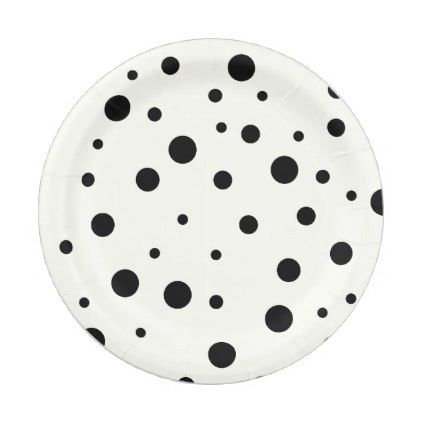 Elegant Black Polka Dots Pattern Paper Plate - kitchen gifts diy ideas decor special unique inidual  sc 1 st  Pinterest & Elegant Black Polka Dots Pattern Paper Plate - kitchen gifts diy ...
