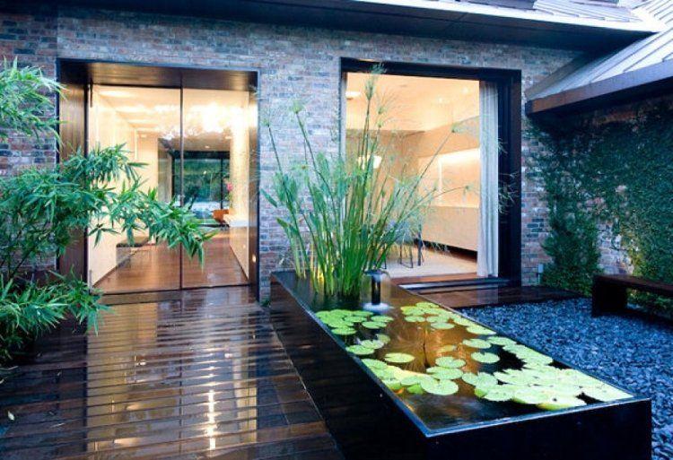 Bassin de jardin 12 id es pour embellir votre espace ext rieur d co - Bassin jardin bois reims ...