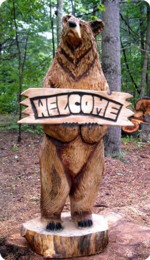 Chainsaw Wood Carved Bears Chainsaw Carving Artists Carvings