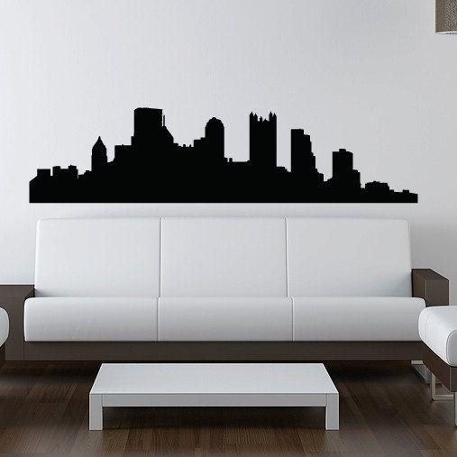Pittsburgh skyline wall decal vinyl sticker pennsylvania